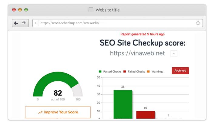 Điểm kiểm tra SEO web xây dựng